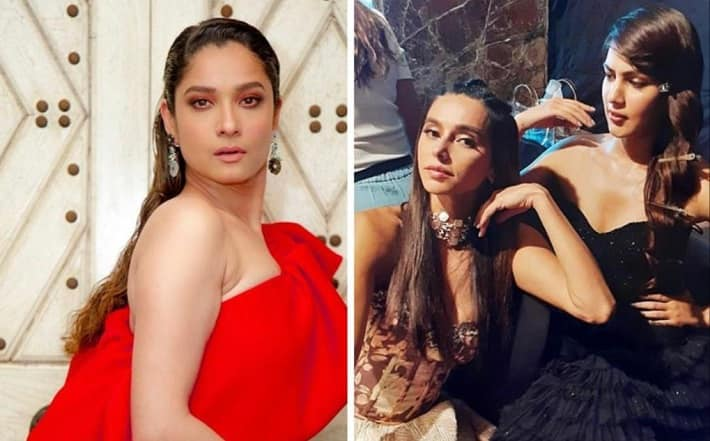 Shibani dandekar replying on ankita lokhande post